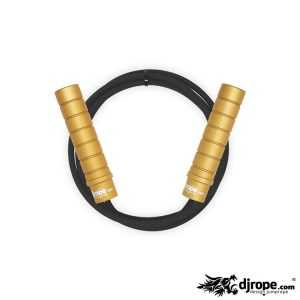 Corda per saltare DJROPE Evolution Oro corda nera