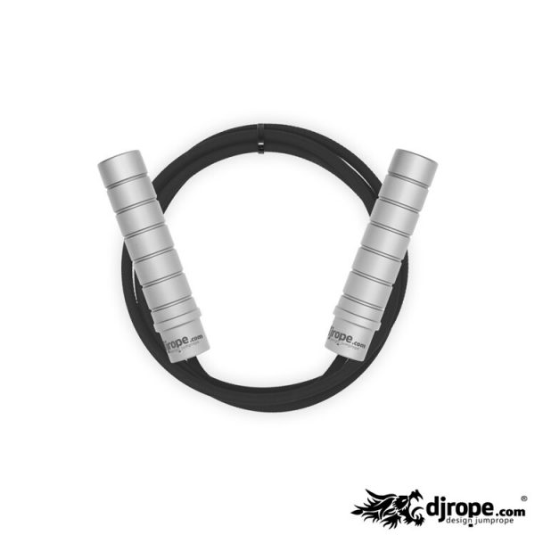 Corda per saltare DJROPE Evolution Silver corda nera