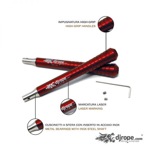 Corda per saltare DJROPE Crossfit Rosso Caratteristiche