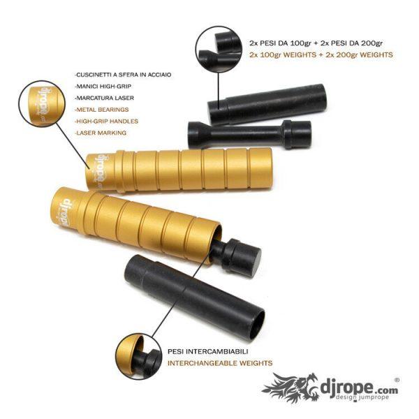 Corda per saltare DJROPE Evolution Oro Caratteristiche