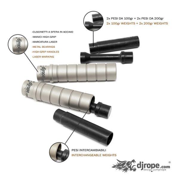 Corda per saltare DJROPE Evolution Silver Caratteristiche