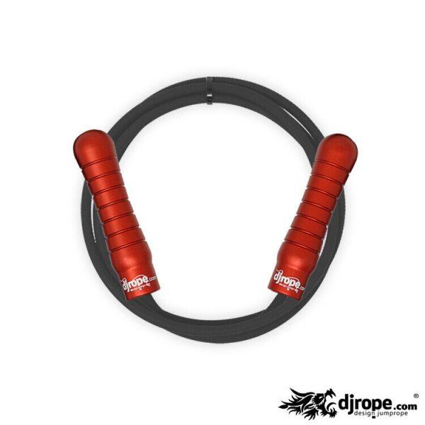 Corda per saltare DJROPE Pro Rosso corda nera